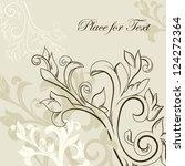 elegant floral card  visiting ... | Shutterstock .eps vector #124272364