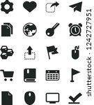 solid black vector icon set  ...   Shutterstock .eps vector #1242727951