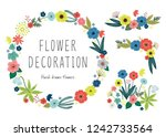 hand painted flower decoration | Shutterstock .eps vector #1242733564