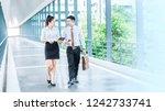 asian business people walking...   Shutterstock . vector #1242733741