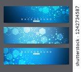 scientific set of modern vector ... | Shutterstock .eps vector #1242734587
