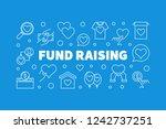 fund raising outline creative... | Shutterstock .eps vector #1242737251