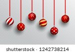realistic baubles in different... | Shutterstock .eps vector #1242738214