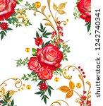 seamless pattern. decorative...   Shutterstock . vector #1242740341