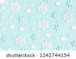 christmas or winter composition....   Shutterstock . vector #1242744154
