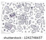 back to the 90s. vector... | Shutterstock .eps vector #1242748657