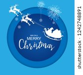 circle santa claus on the sky... | Shutterstock .eps vector #1242748891