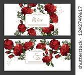 romantic invitation. wedding ...   Shutterstock .eps vector #1242749617