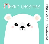 merry christmas. candy cane.... | Shutterstock .eps vector #1242751561
