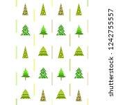 christmas card  fir tree ... | Shutterstock .eps vector #1242755557