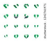 nigeria flag  vector...   Shutterstock .eps vector #1242761971