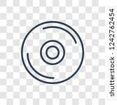 cd icon. trendy linear cd logo... | Shutterstock .eps vector #1242762454