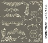 vector lacy  vintage floral ... | Shutterstock .eps vector #124276411