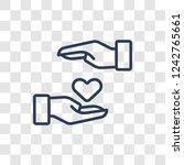 loyalty icon. trendy linear... | Shutterstock .eps vector #1242765661