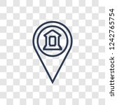 museum map icon. trendy linear... | Shutterstock .eps vector #1242765754