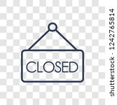 closed sign icon. trendy linear ... | Shutterstock .eps vector #1242765814
