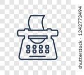 typewriter icon. trendy linear... | Shutterstock .eps vector #1242773494