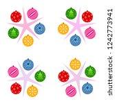 christmas balls  new year...   Shutterstock .eps vector #1242773941