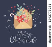 merry christmas greeting card...   Shutterstock .eps vector #1242779281