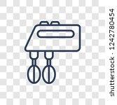 mixer icon. trendy linear mixer ... | Shutterstock .eps vector #1242780454
