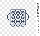 muffin pan icon. trendy linear...   Shutterstock .eps vector #1242780457