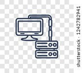 proxy server icon. trendy... | Shutterstock .eps vector #1242782941