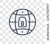 private network icon. trendy... | Shutterstock .eps vector #1242782947