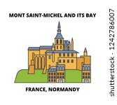france  normandy   mont saint... | Shutterstock .eps vector #1242786007