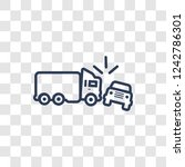 crash icon. trendy linear crash ... | Shutterstock .eps vector #1242786301