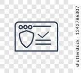 antivirus icon. trendy linear... | Shutterstock .eps vector #1242786307