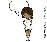 cartoon pretty woman | Shutterstock .eps vector #124278661
