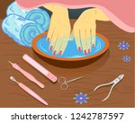 manicure  hand care. woman s...   Shutterstock .eps vector #1242787597