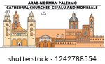 arab norman palermo   cathedral ... | Shutterstock .eps vector #1242788554
