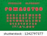alphabet christmas design. word ... | Shutterstock .eps vector #1242797377