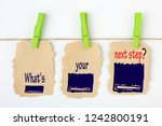 what's your next step written... | Shutterstock . vector #1242800191