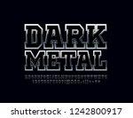 vector dark metallic font.... | Shutterstock .eps vector #1242800917