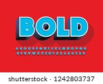 vector of stylized modern font... | Shutterstock .eps vector #1242803737