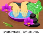 manicure  hand care. woman s...   Shutterstock .eps vector #1242810907