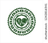 green heart with... | Shutterstock .eps vector #1242816541