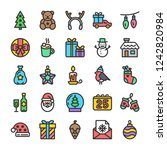 new year and christmas icons... | Shutterstock .eps vector #1242820984