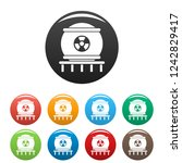 nuclear energy icons set 9...   Shutterstock .eps vector #1242829417