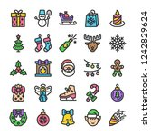 new year and christmas icons... | Shutterstock .eps vector #1242829624