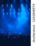 concert crowd of fans taking... | Shutterstock . vector #1242848974