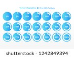 percentage vector infographic... | Shutterstock .eps vector #1242849394