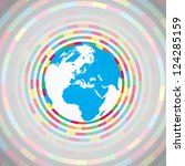 colorful earth vector | Shutterstock .eps vector #124285159