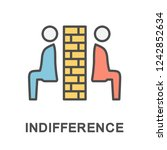 indifference icon. lack of... | Shutterstock .eps vector #1242852634