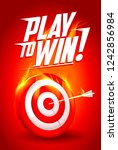 play to win quote card  white... | Shutterstock . vector #1242856984