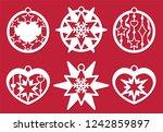 christmas balls  new year's... | Shutterstock .eps vector #1242859897