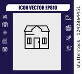 house icon vector   Shutterstock .eps vector #1242864451