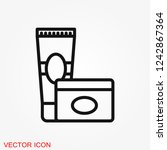 face cream vector icon.... | Shutterstock .eps vector #1242867364
